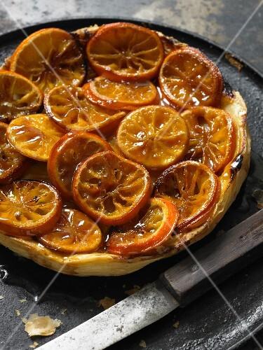 Tarte Tatin with citrus fruits
