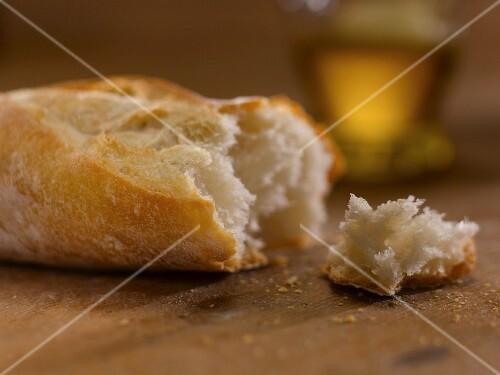 Baguette, broken