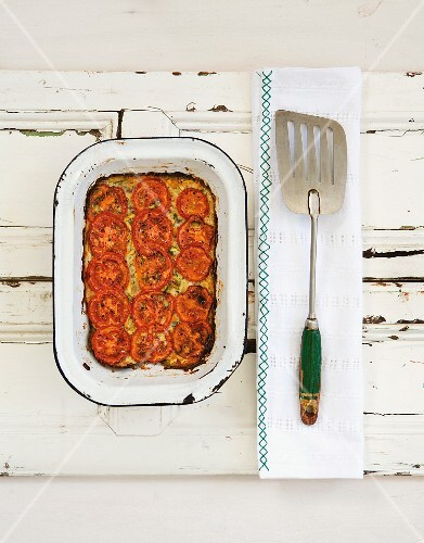 Courgette bake with tomatoes