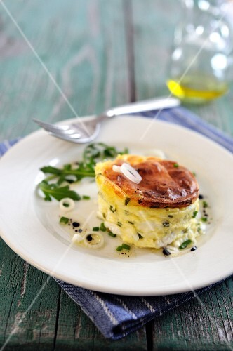 Goat's cheese and chives soufflé