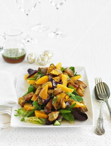 Sweet potato and orange salad for Christmas