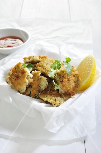 Fish cakes with coriander