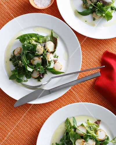Plates of potato salad