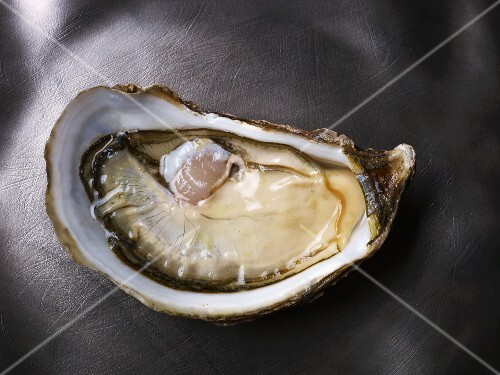 A raw oyster (Florent tarbouriech rose speciale)