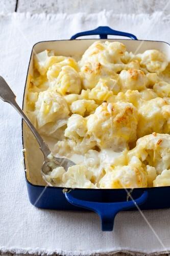 Cauliflower Gratin in a Baking Dish