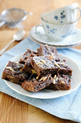 Chocolate bread cake with sultanas