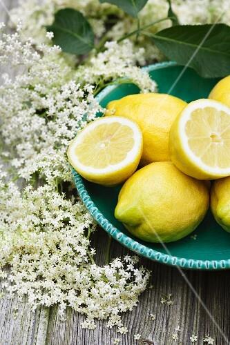 Lemons and elderflowers