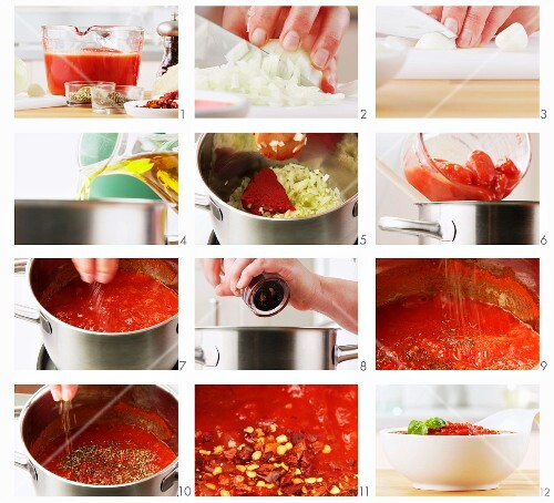 Making tomato sauce (English Voice-Over)