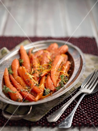 Roasted carrots with orange and honey