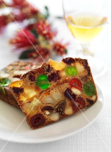 Cathedral Cake (English Christmas fruit cake)