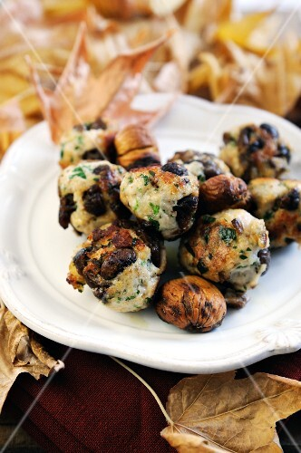 Pork and chestnut meatballs