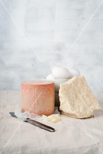 Tête de Moine, Parmesan and fresh eggs
