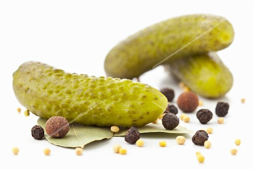 Cornichons with spices