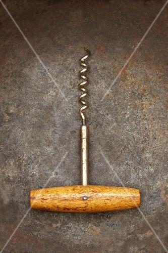 Wooden Handle Corkscrew