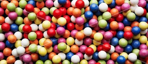 Colourful bubble gum balls