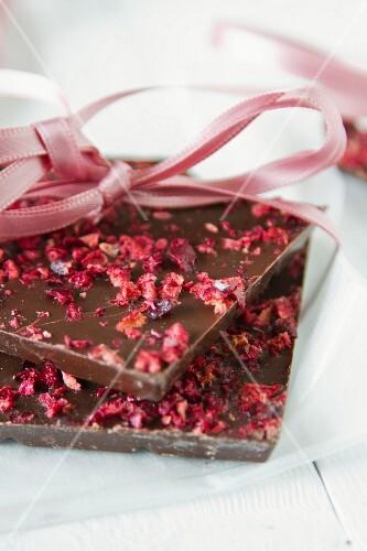 Chocolate with cherries