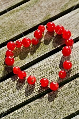 A redcurrant heart
