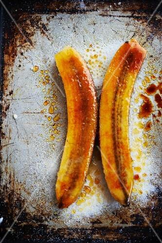 Caramelised bananas