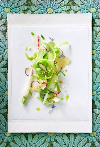Celery and Radish Salad; From Above