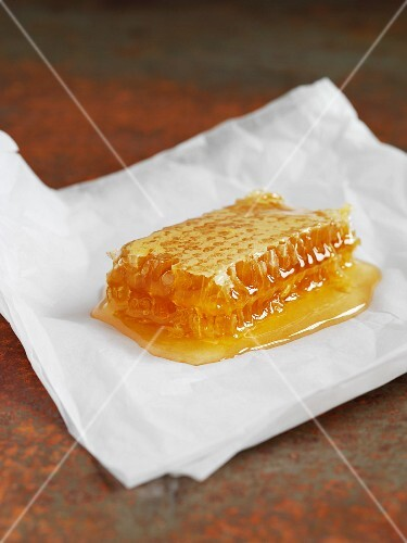 A honeycomb with honey