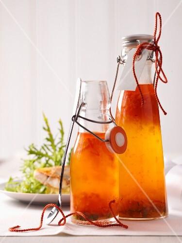 Homemade vinaigrette as a gift