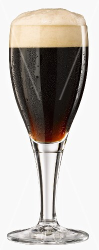 A glass of black beer