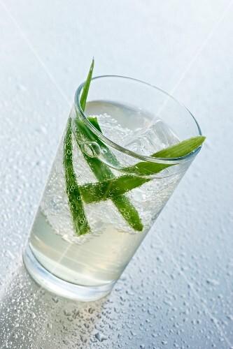 An aloe vera drink