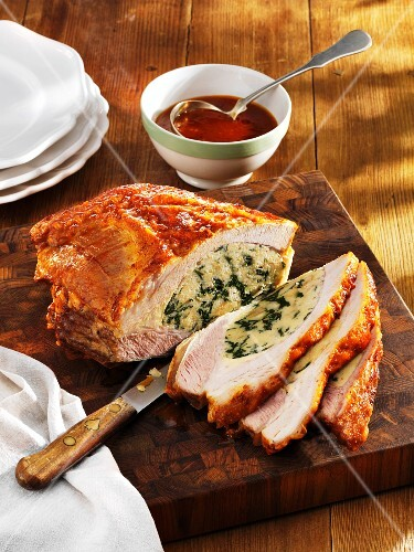 Veal breast filled with spinach