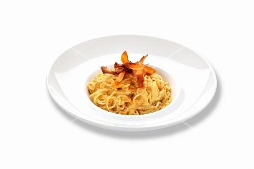 Spaghetti with sweet potatoes