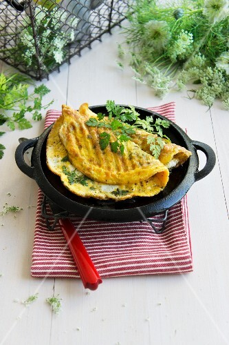 Herb omelette filled with chard