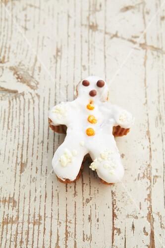 A snowman muffin