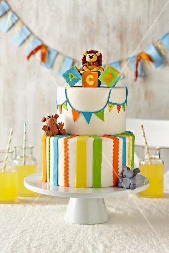Baby Shower Cake with Circus Theme