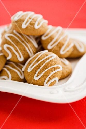 Banana Yogurt Cookies with Icing