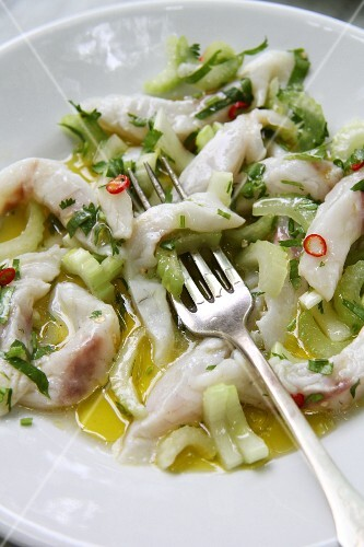 Ceviche with celery