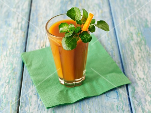 A carrot smoothie