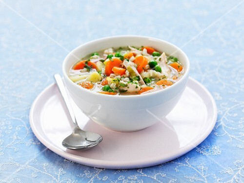 Bowl of Chicken Vegetable Soup