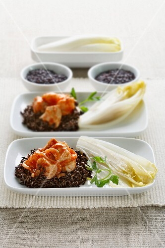 Ragout di pesce al riso venere (fish ragout with black rice)