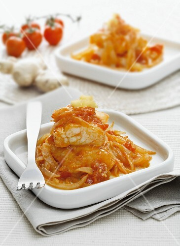Baccalà in agrodolce (sweet and sour salt cod, Italy)
