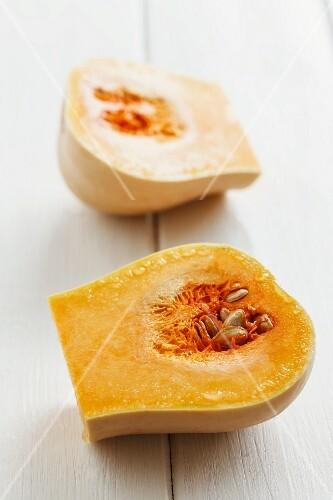 Butternut squash, halved