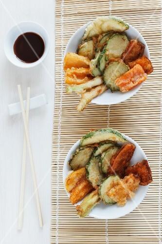 Vegetable tempura with soy sauce (Japan)