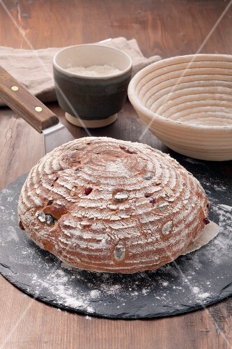 Home-made bread with pumpkin seeds