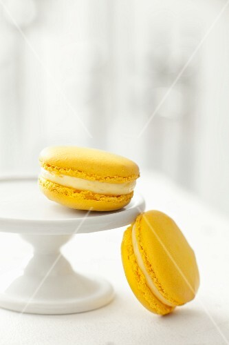 Two Yellow Macaroons