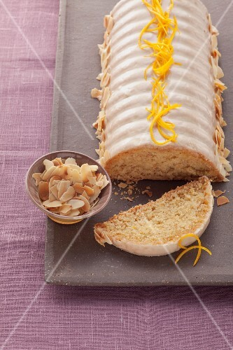 Almond cake with orange zest