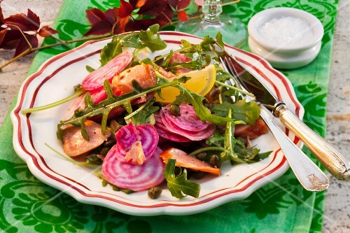 Beetroot with rocket