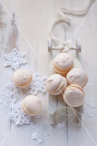 Macarons zu Weihnachten