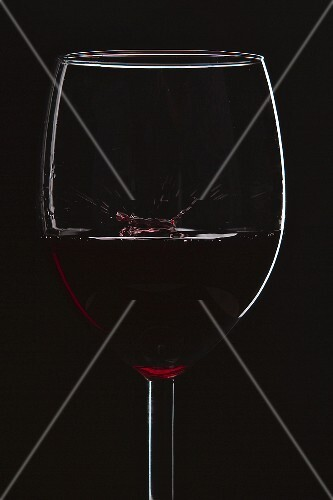 A glass of red wine