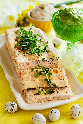 Salmon terrine with cress