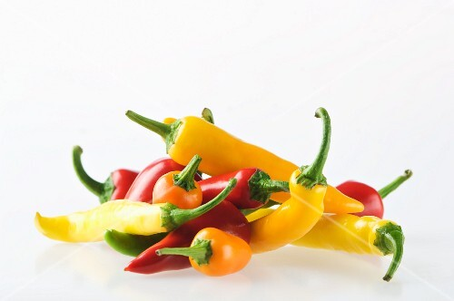 Red, Yellow and Orange Chili Peppers