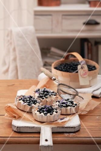 Blueberry tartlets