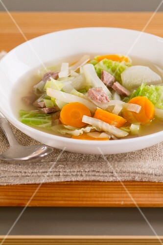 Pot au feu (beef and vegetables stew, France)